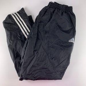 Vtg Adidas Small Track Pants Rip Off Lined Black